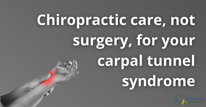 Chiropractic Care, Not Surgery, For Your Carpal Tunnel Syndrome  image